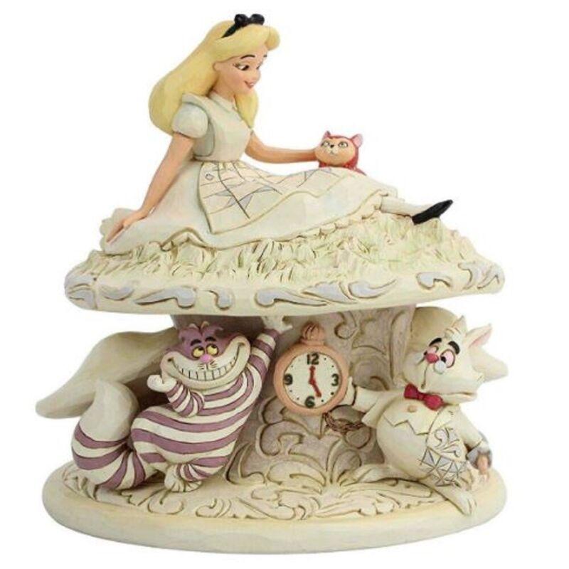 Jim Shore Disney Traditions White Woodland Alice Wonderland Figurine 6005957 New