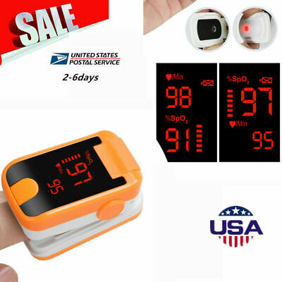 Led Fingertip Pulse Oximeter Blood Oxygen Led Spo2 Pr Monitor Sensor Oxymeter