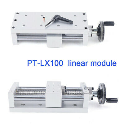 Manual Aluminum Sliding Table Ball Screw Linear Actuator Stage Cnc 130 Strokes
