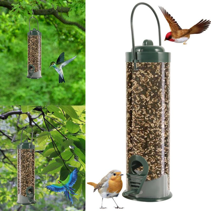 US Wild Bird Seed Food Feeder Tube  Garden Outdoor Hanging F