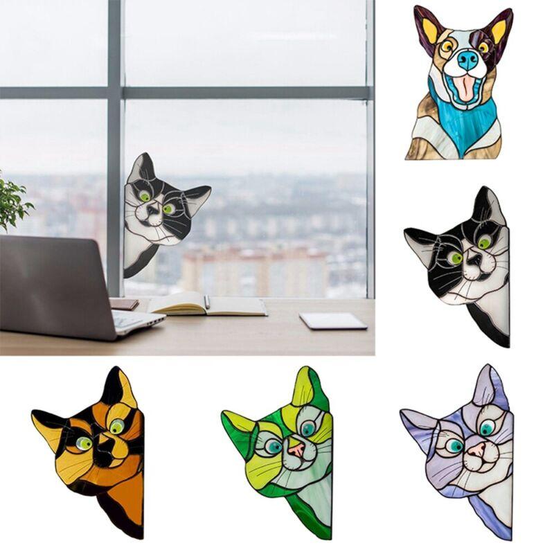 Home Decoration - Birds Door Cats Home Decor Window Glass Sticker Decoration Stickers Wall Decals