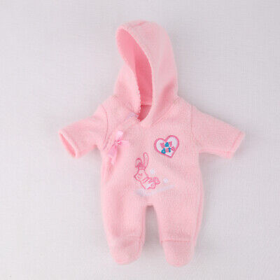 10-11inch reborn doll clothes Suit bebe girl pink romper