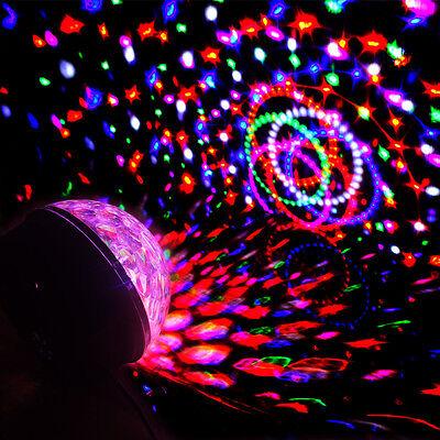 LED RGB Discokugel Discolicht Party Bühne Club Lichteffekt  Projektor Magic Ball
