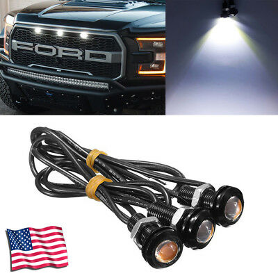 3PC Ford SVT Raptor Style LED White Grille Lighting Kit, Universal Fit Truck SUV