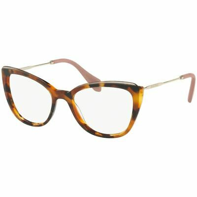 Authentic Miu Miu Cat Eye Women's Eyeglasses Havana w/Demo Lens MU02QV (Miu Miu Eye Glasses)