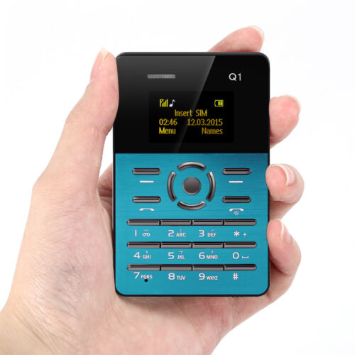 AIEK Q1 1.0 inch Ultrathin Card Phone FM Audio Player Sound Recorder Alarm 128M
