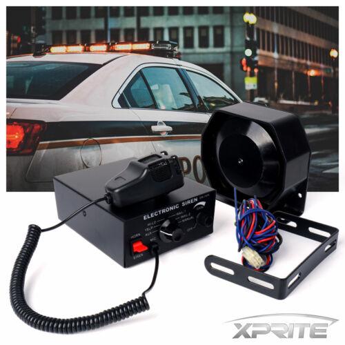 100W 12V Siren Microphone Horn Loud Speaker PA System Emergency Security Truck