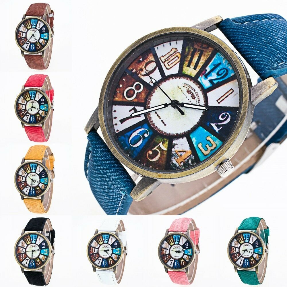 $0.99 - Fashion Casual Luxury Men Women Stainless Steel Band Quartz Analog Wrist Watches