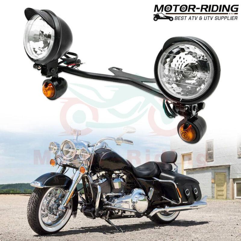 Passing Turn Signal Spot Fog Light For Harley Cruiser Dyna Softail Road King 883