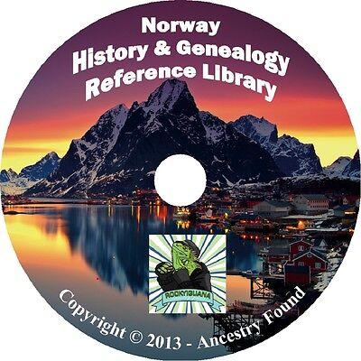 34 old books NORWAY Norwegian History & Genealogy Family Tree