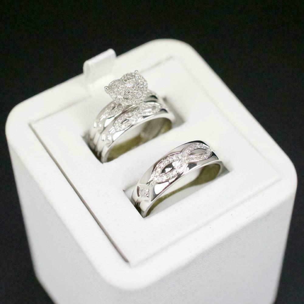 14k white gold over his and her
