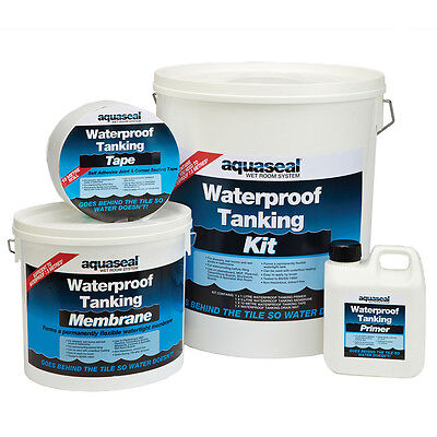 Aquaseal Tanking Kit 7.5 sq/m Wetroom Bathroom Waterproof System Membrane Tape