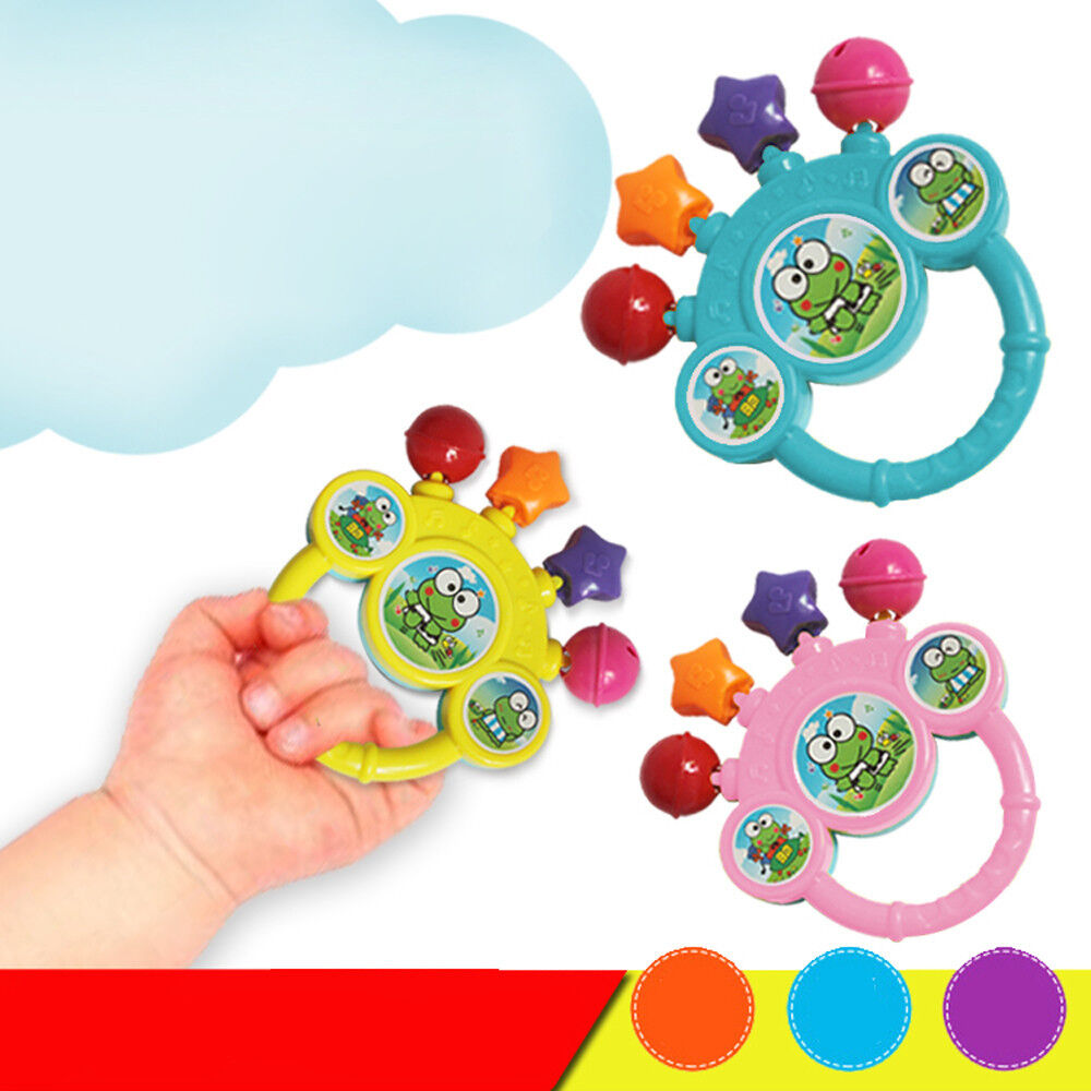 Cartoon Infant Baby Bell Rattles Newborns Toys Hand Toy For
