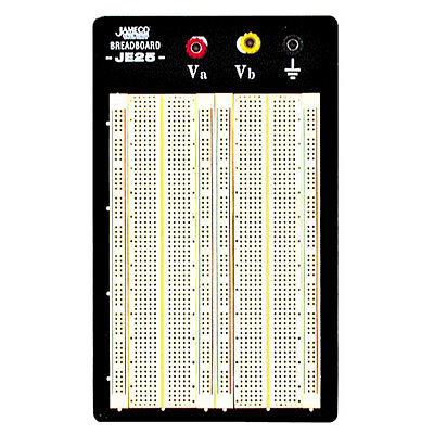 "Jameco Valuepro WBU-204-R 1660-Point Solderless Breadboard 6.5""Lx4.3""W"