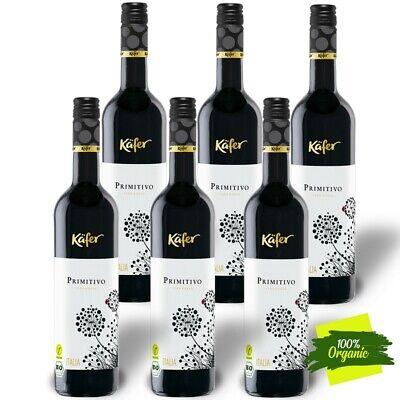 6 x 75cl Käfer Primitivo 14% BIO Vegan Rotwein Italy Puglia trocken DE-ÖKO-039