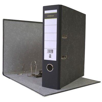 10 x Ordner A4 8 cm Wolkenmarmorbezug schwarz Aktenordner Briefordner