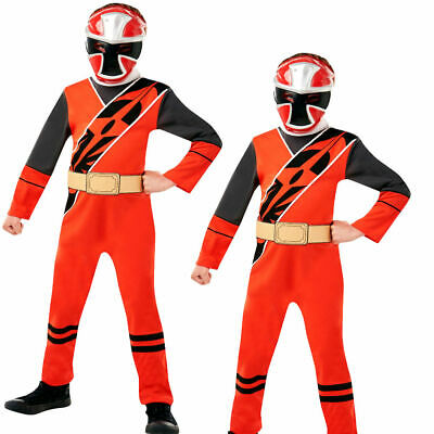 Power Rot Ranger Jungen Kostüm Kinder Ninja Stahl Kostüm Outfit - Stahl Kostüm