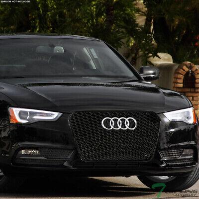 Topline For 2013-2016 Audi A5 RS Honeycomb Mesh Front Hood Bumper Grille - Black