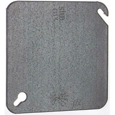 Steel City Blank Square Electrical Box Cover 4 In. Flat Metal Hott Deals 50 Pack