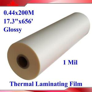 "17.3""X656' Glossy UV 1Roll Thermal Laminating Film 120002"