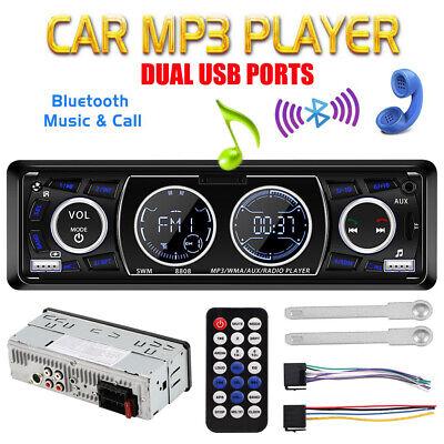 Autoradio Bluetooth Freisprecheinrichtung USB/WMA MP3 Player Fernbedienung 1Din (Radio Usb Mp3)