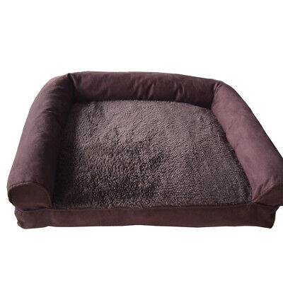 Luxury Pet Bed Sofa Basket Dog Cat Soft Plush Cushion Removeable Covers Large