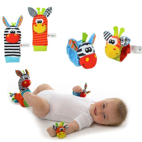 Baby Infant Soft Rattles Handbells Hand Foot Finders Socks Developmental Toy