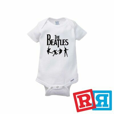 The Beatles Baby Onesie Jump Fab Four Bodysuit Unisex Gerber Organic Cotton