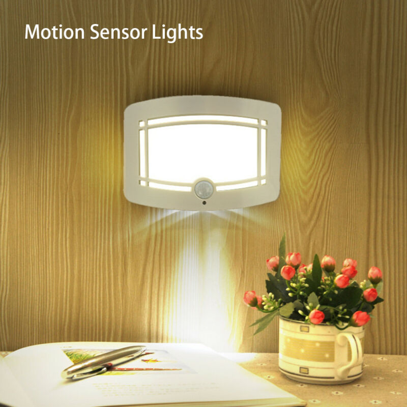 10 LED Wireless Light-operated Motion Sensor Battery Power S