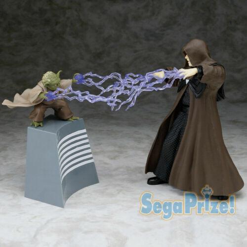 Star Wars Yoda and Palpatine Premium 1/10 Scale Figure Set Sega Prize Japan New