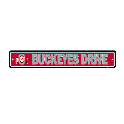 Ncaa Ohio State Buckeyes Ave Street Sign 24  X 4  Styrene Plastic Made In Usa