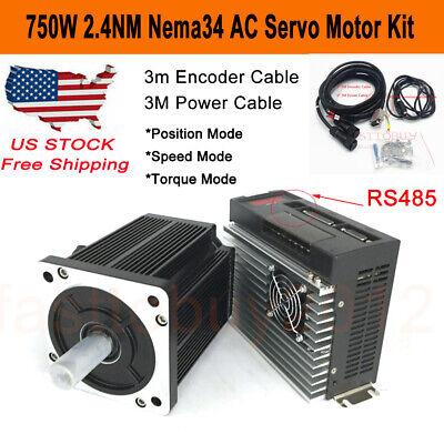 Toauto Nema34 750w Ac Servo Motor Driver 2.4nm 3000rpm For Cnc Milling Engraving