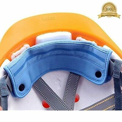 2 Pieces Washable Snap On Hard Hat Sweatband Linersweat Absorber 2pcs Blue -