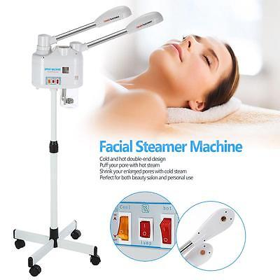 Pro 750W Facial Steamer Machine Cold Hot Double-end Ozone Steamer Skin Care Y8N9