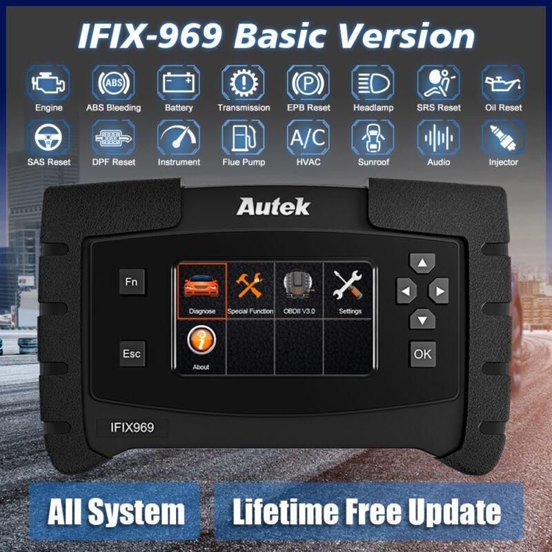 Autek IFIX969 OBD2 Scanner Full System Auto Car Diagnostic Tool ABS SRS EPB DPF