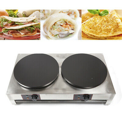 16 6kw Electric Double Crepe Maker Machine Non Stick Pancake Griddle Commercial