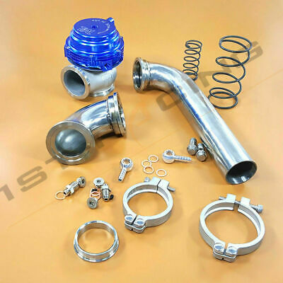 Mvr Wastegate - MVR44 Tial 44mm Wastegate 14PSI+Stainless 304 Dump Pipe Tube+Elbow Inlet Adaptor