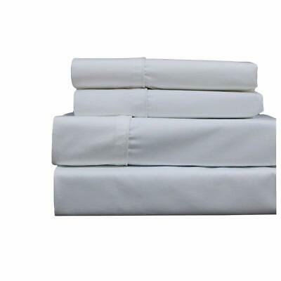 Top_Linens 4-Piece Bed Sheet Set - 100% Cotton Sateen - 400 Thread Count - Fixed Height Beds