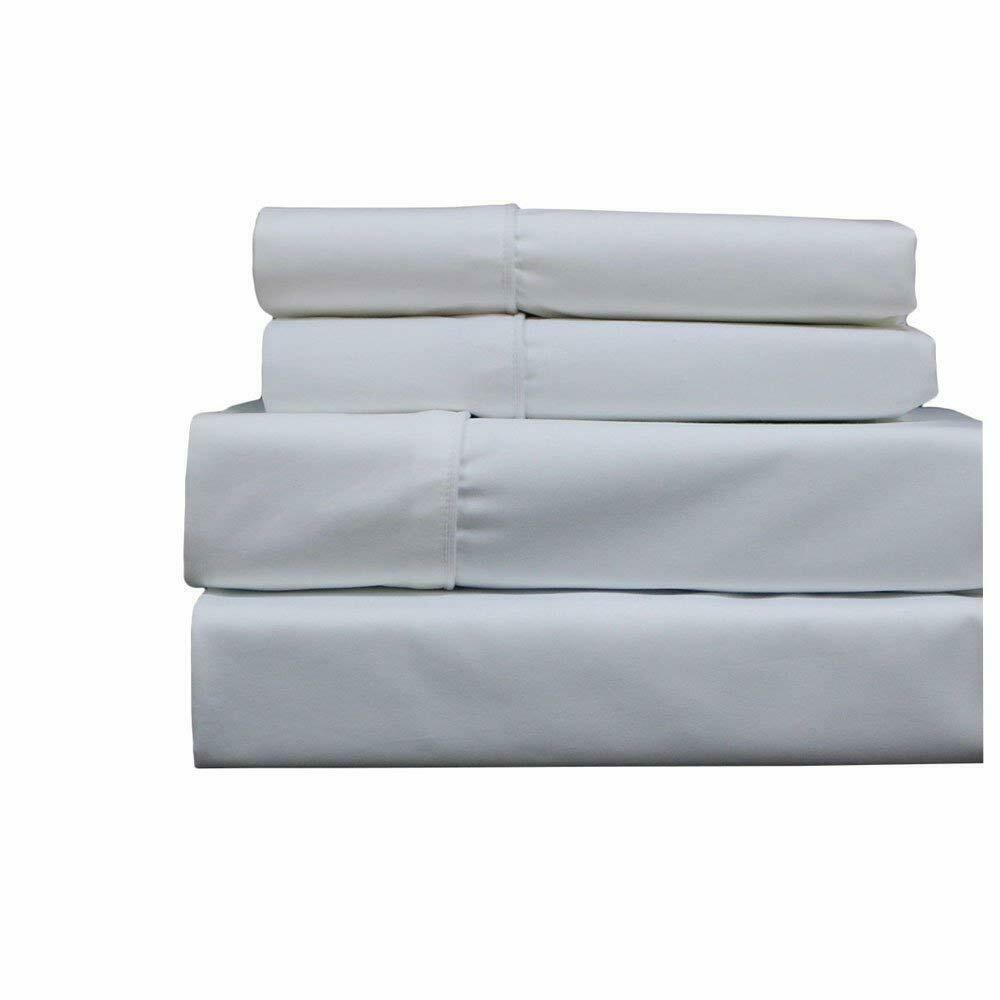 Top_Linens 4-Piece Bed Sheet Set - 100% Cotton Sateen - 400