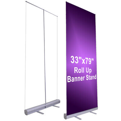 Professional 33x79 Retractable Roll Up Banner Stand Trade Show Signage Display