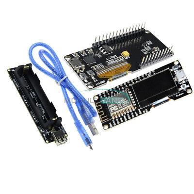 Esp32esp8266 Esp-12f 0.96oled Wifi Bluetooth Cp2102 Board 18650 Battery Shield