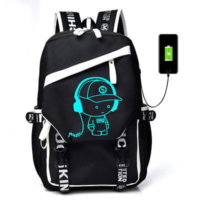 (Luminous Anti Theft Backpack Bookbag Cool School Shoulder Bag for Boys Girl Gift)