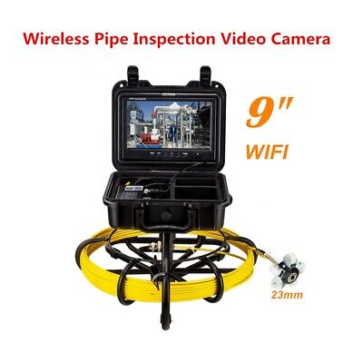 9 Wifi Pipe Inspection System Sewer Camera Dvr Video 16gb Support Androidios.