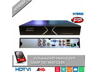 CCTV Security Camera DVR. Full HD 1080p Hybrid Recorder with Hard Drive. New