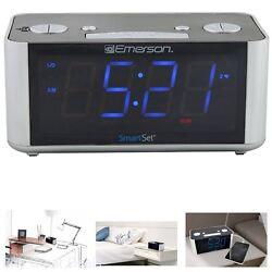 Emerson CKS1708 Smart Set Radio Alarm Clock FM Digital LED Display Tuning