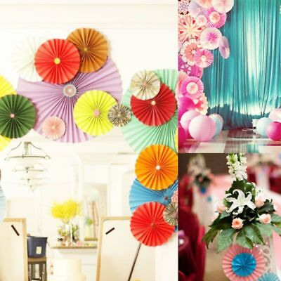 5PCS Wedding Favors Crafts Hanging Paper Flower Pinwheels Fans - Paper Pinwheel