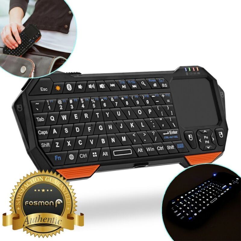 Fosmon 30FT Mini Wireless Bluetooth Keyboard Touchpad for iOS Android Windows