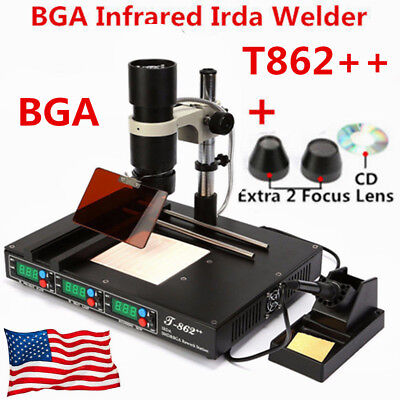 Bga Ir Repair Rework Station T862 Smd Smt Welder Soldering Machine Us Plug