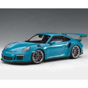 Autoart Porsche 911 991 GT3 RS 1:18 Model Miami Blue / Dark Grey Wheels 78167