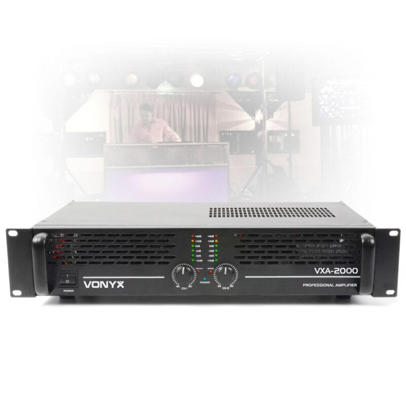 VONYX-2000 MKII Two Channel Power Amplifier PA Bridge Amp 2U Rack Mount 2000W